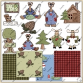 Woodsy ClipArt Graphic Collection