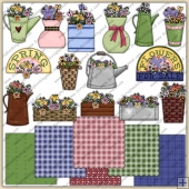 Spring Flowers ClipArt Graphic Collection