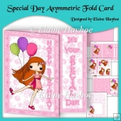 Special Day Asymmetric Fold Card