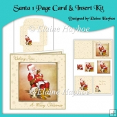 Santa One Page Card & Insert Kit