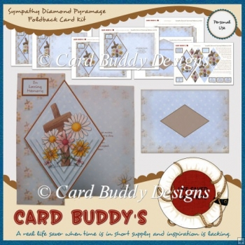 Sympathy Diamond Pyramage Foldback Card Kit