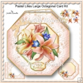 Pastel Lilies Large Octagonal Card Kit