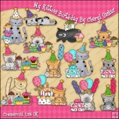 My Kitties Birthday ClipArt Graphic Collection