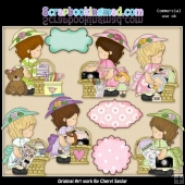 Annabelles Scrapbook Baskets ClipArt Collection