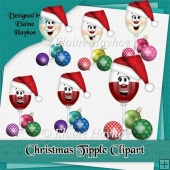 Christmas Tipple Wine Glass Clipart