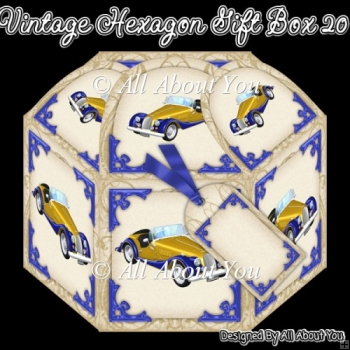 Vintage Car Hexagon Gift Box 20