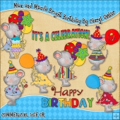 Max and Maude Bright Birthday ClipArt Graphic Collection