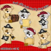 Sweet Little Pirate Pups ClipArt Graphic Collection