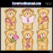 Chubby Cubby Breast Cancer ClipArt Graphic Collection
