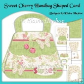 Sweet Cherry Handbag Shaped Card