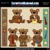 RESALE ART WORK - Fathers Day Bears Collection
