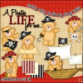 Chubby Cubby Pirates ClipArt Graphic Collection