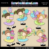 RESALE ART WORK - Birthday Sally ClipArt Collection