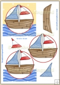 Sail Boat PDF Decoupage Download