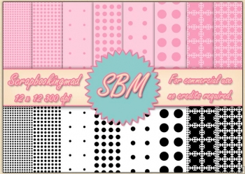 8 PNG Circle & Dot Paper Overlays 12 x 12 Designer Resources