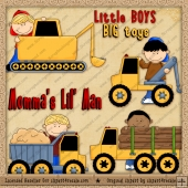 Lil Boys Toys ClipArt Graphic Collection
