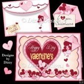 Valentine Hearts Card Kit