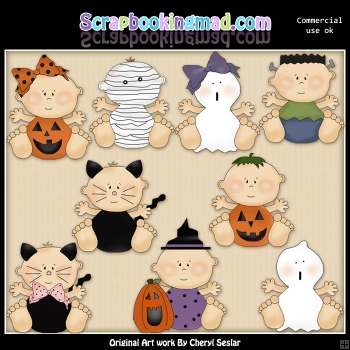 Boo Babies ClipArt Graphic Collection