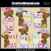 Tibbles Bear Loves Espresso ClipArt Collection