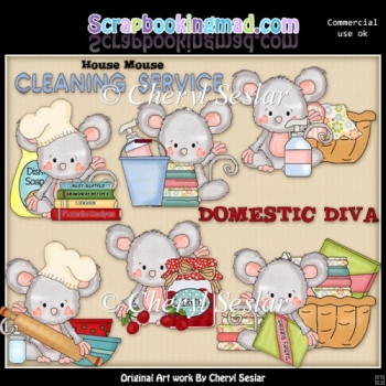 Pinky The House Mouse ClipArt Collection