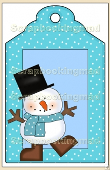 Cool Dude Christmas Gift Tag - REF_T634