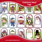 Christmas Head Gift Tags