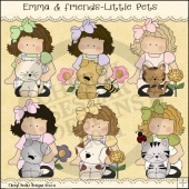 Emma and Friends Little Pets ClipArt Graphic Collection