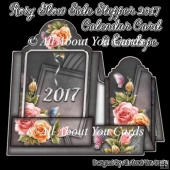 Rosy Glow Side Stepper 2017 Calendar Card & Envelope