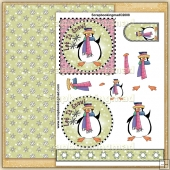 Let It Snow Penguin Party PDF Decoupage Download