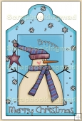 Christmas Snowman Decorative Tag - REF_T14