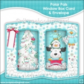Polar Pals Double Window Box Card and Envelope