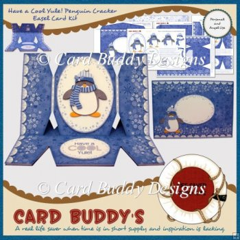Have a Cool Yule! Penguin Cracker Easel Card Kit