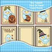 6 Tiny Tweets Trick or Tweet Card Fronts
