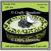 Trendy Oval Gift Box - Green