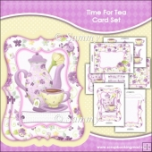 Time For Tea Roses Bracket Card Set