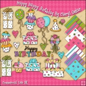 Happy Happy Birthday ClipArt Graphic Collection
