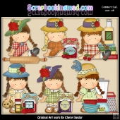 Agnus In The Kitchen ClipArt Collection