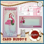 Tropical Christmas Greetings Card Kit