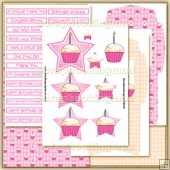 Pink Happy Birthday PDF Star Pyramage Download