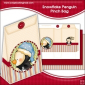 Snowflake Penguin Pinch Bag