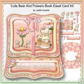Cute Bear And Flowers Book Easel Card Kit