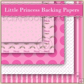 5 Little Princess Backing Papers Download (C154)