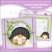 Snowbuddies Shadow Box Card and Envelope