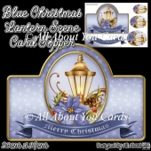 Blue Christmas Lantern Card Topper
