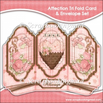 Affection Tri Fold Card & Envelope Set