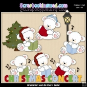 Polar Bears Christmas Concert ClipArt Collection
