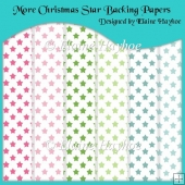 More Christmas Star Backing Papers