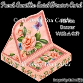 Peach Camillia Easel Drawer Card