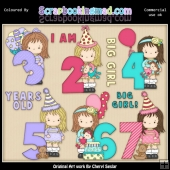 Little Grechin Birthday Numbers 1 ClipArt Graphic Collection