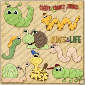 Creepy Crawly ClipArt Graphic Collection